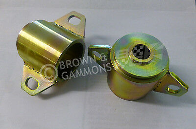 MG TF SUB FRAME FRONT MOUNTS, PAIR, SOLID TYPE, NEW (KGE000110x2)
