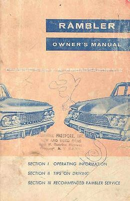 1961 AMC Rambler Owner's Manual OH11-U8OOFZ