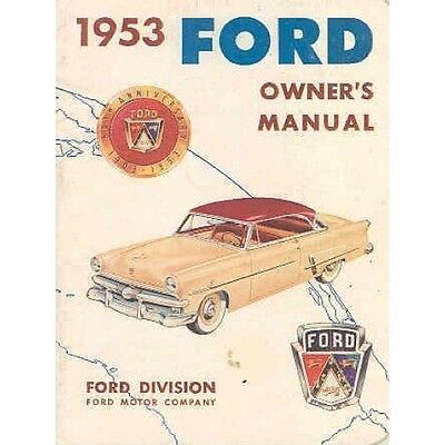 1953 Ford Owner's Manual OH269-IBYWUE