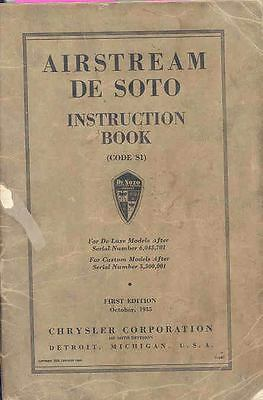 1936 Desoto S1 Owners Manual 1st Edition om1022-5WWF2F