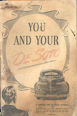 1941 Desoto S8 Owners Manual 1st Edition om1029-PDBSQ2