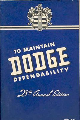 1942 Dodge D22 Owners Manual 2nd Edition om1063-LLUO6V
