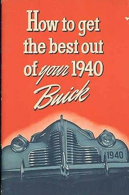 1940 Buick ORIGINAL Owners Manual om49-4746SZ