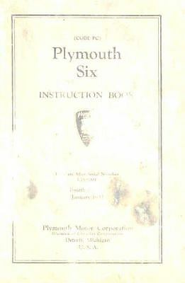 1933 Plymouth Six Owner's Manual om546-NQK43C