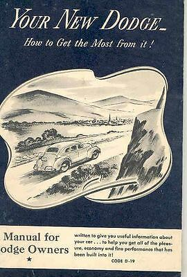 1941 Dodge Owners Manual om743-XWSNTS