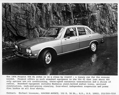 1976 Peugeot 504 GL Sedan Factory Photo ae3841-BIL46G