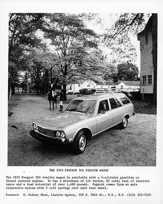 1975 Peugeot 504 Station Wagon Factory Photo ae3848-FEONXQ