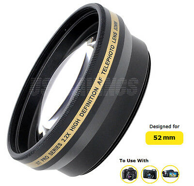 TELEPHOTO LENS Xit 2.2X 52mm FOR NIKON 18-55mm