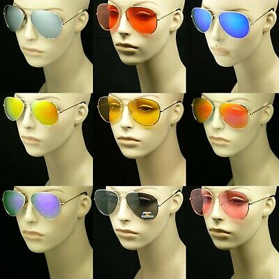 Mirror Or Tinted Aviator Sunglasses 100% Uv Protection Men Women New Lens Frame