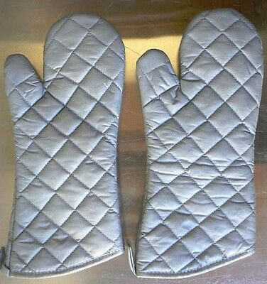 """2pc Oven Mitts/ Gloves 15"""", Silicone Coated, Restaurant Commercial Grade 200F"""