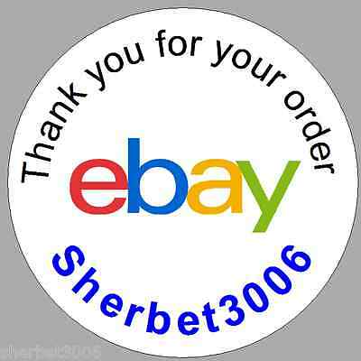 24 x 4cm personalised round stickers ebay logo labels stickers thank you