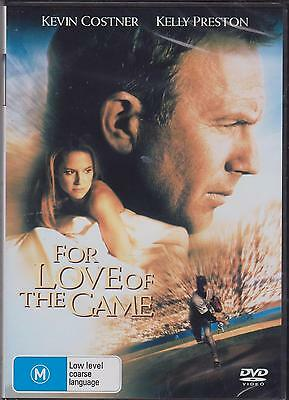 For Love Of The Game - Kevin Costner - Kelly Preston -  Dvd - New
