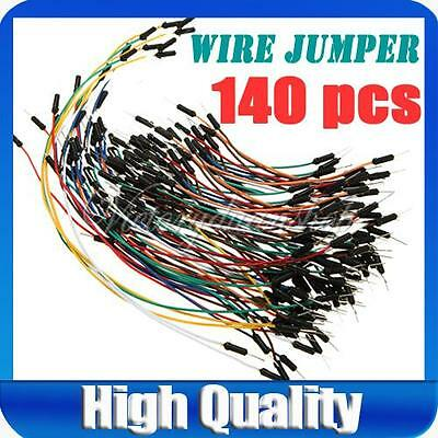 140pcs Color Coded Wire Solderless Breadboard Jumper jump Cables for Arduino Kit
