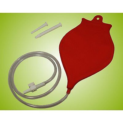 Irrigator 1200 ml mit Klistier Set in rot