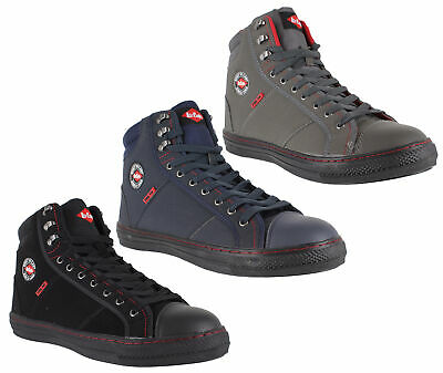 Mens Womens Lee Cooper Steel Toe SB Safety Baseball Boots High Top Sizes 3 to 12