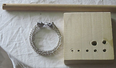 Viking Knit Bracelet Kit & Instr., Titanium Wire #3