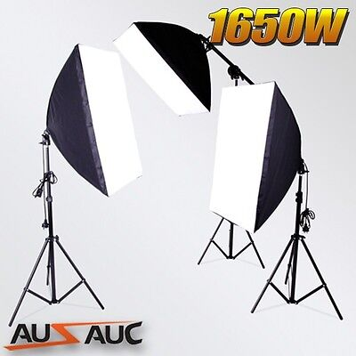 New Photography Soft Box Light Bulbs Lighting Stand Boom Arm Photo Studio Kit