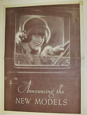 1925 Willys Knight and Overland Large Brochure Poster wt2136