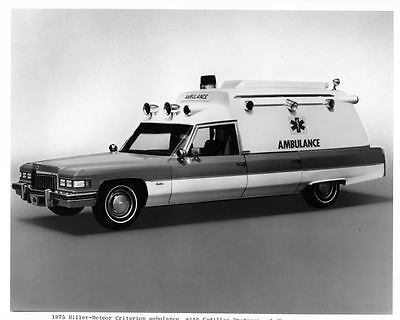 1975 Cadillac Miller Meteor Ambulance Automobile Photo Poster zae4269-POXKNA