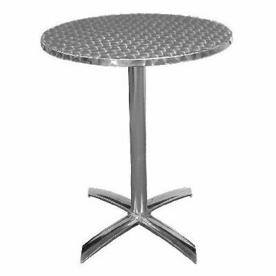 Cafe Table, Round with Flip Top, Stainless Steel & Aluminiu, 600 x 720mm, Bolero