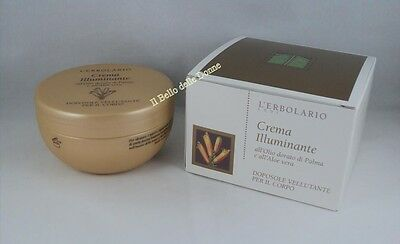 ERBOLARIO Crema Illuminante 200ml doposole olio palma aloe vera Lightening Cream