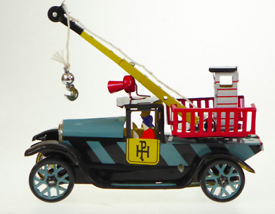 Classic Tin Toy Vintage Style Rescue Breakdown Truck  Wind Up Clockwork