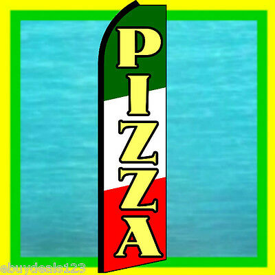 PIZZA SWOOPER FLAG Restaurant Food Advertising Sign Feather Flutter Bow Banner