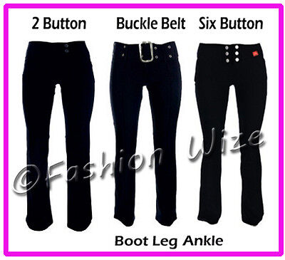Girls Black Grey Navy School Trousers Sizes 4-16 Miss Sexies Miss Chief Bootcut