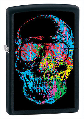 Zippo Lighter X-Ray Skull Black Matte/Licorice Personalised Engraved Free