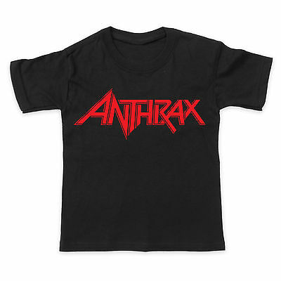 ANTHRAX - ROCK HEAVY METAL MUSIC BAND - Baby Toddler Kids T-Shirt Tee
