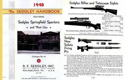 Sedgley 1940 Handbook & Custom Gun Catalog #48 (Phil., PA)