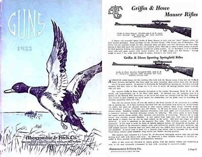 Abercrombie & Fitch Firearms & Sports 1933 Catalog