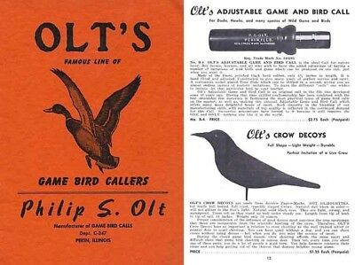 Olt's 1947 Famous Game Bird Callers Catalog