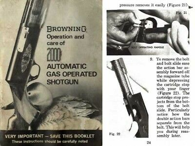 browning 2000 gas operated automatic shotgun owners operation rh picclick com Weapon Brown Brown Arm