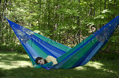 NEW COTTON FAMILY Mayan Mexican Hammock from Yucatan Authentic Handmade