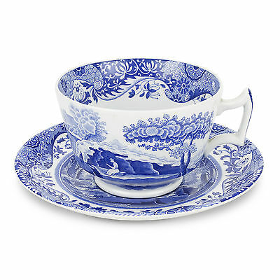 Spode Blue Italian Breakfast Cup & Saucer MADE IN ENGLAND 9.5oz