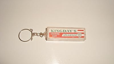 Ancien Porte Cle Publicitaire Keychain Chewing Gum Kingday's Spearmint