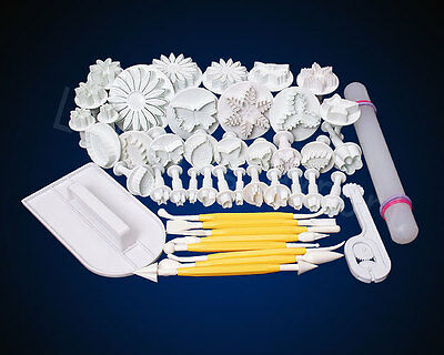 15 Styles Sugarcraft Cake Decorating Fondant Plunger Cutters Tools mold Smoother