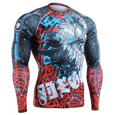 FIXGEAR CFL-73 Compression Base Layers Shirts Under Skin Tight Gym Training MMA