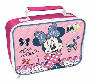 Disney Minnie Mouse 'Aam' School Rectangle Lunch Bag Brand New Gift
