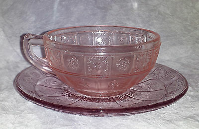 Pink Doric & Pansy Child Cup and Saucer