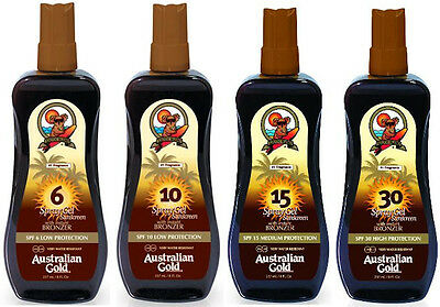 Australian Gold OUTDOOR SPF LOTIONS With Added BRONZER 6 10 15 30 Sun Protection