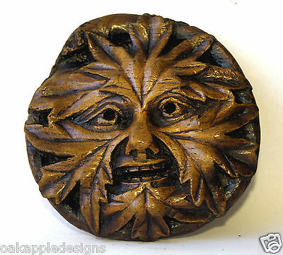 Green Man Reproduction  Medieval Cathedral Carving Gothic Pagan Historic Gift