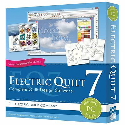 Electric Quilt 7 EQ7 Quilting Design Software For PC