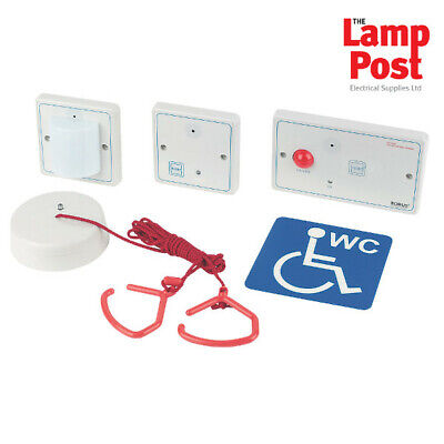 Robus RDPTA-01 - Disabled Vulnerable Toilet Alarm Bathroom Alarm Pull Cord Kit