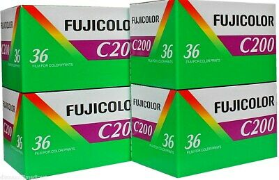 4 x FUJI FUJICOLOR C200 35mm 36exp CHEAP COLOUR PRINT FILM by 1st CLASS POST