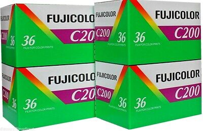 4 x FUJICOLOR C200 35mm 36exp CHEAP COLOUR PRINT CAMERA FILM by 1st CLASS POST