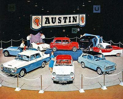 1960 Austin Healey 3000 Sprite Mini Metropolitan Automobile Photo Poster zua4241