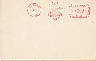 Postmark Lithuania meter slogan TRIAL 1937 KAUNAS Pienocentras Specimen 0 value