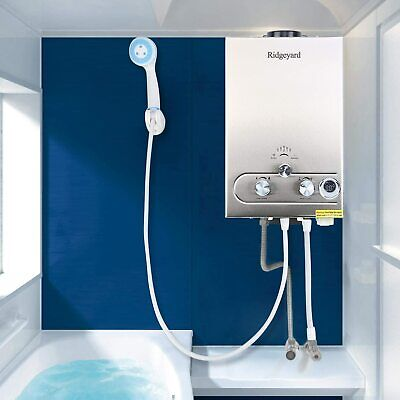 8L Propane Gas Lpg 2GPM Instant Hot Water Heater Tankless Boiler CE w/ Shower